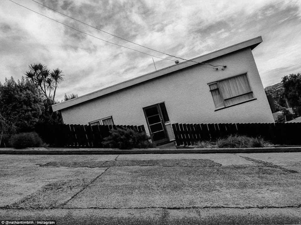 陡峭街道房屋的视错觉错误图片,看起来好惊险3