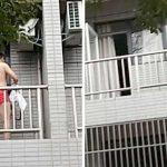 男子拍摄红内裤男翻窗走视频,拍完才发现那是自己房间