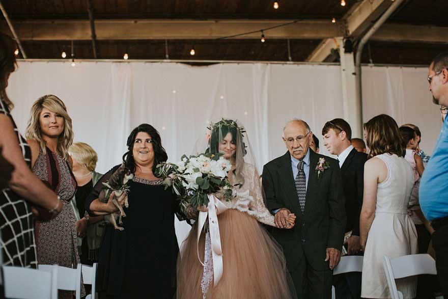令人感动的婚礼现场