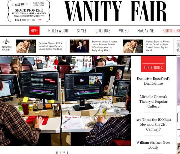 名利场杂志(浮华世界 Vanity Fair)网站