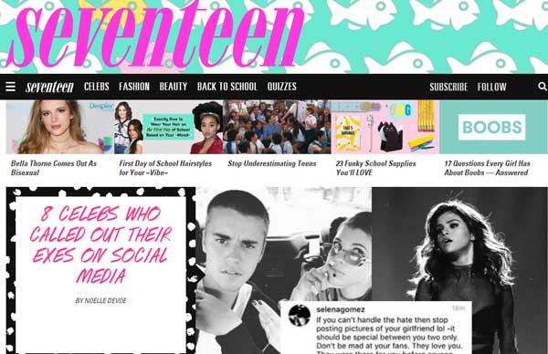 少女杂志Seventeen网站