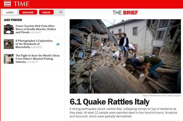 时代周刊(Time),时代杂志网站