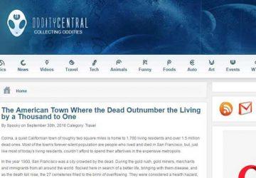 猎奇网(Odditycentral):全球古怪新闻和人物故事博客