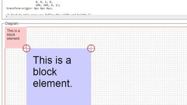 2D/3D变形matrix难写,可视化工具自动生成CSS3变形代码