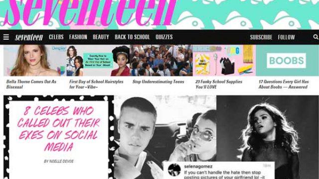 美国少女杂志Seventeen网站