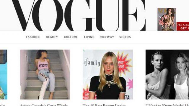 时尚杂志(VOGUE)官方网站