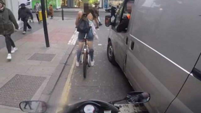 女子遭遇货车司机性骚扰,霸气手撕后视镜回击