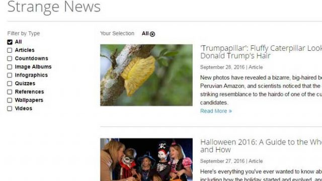 Strange News:生活科学网站新奇新闻