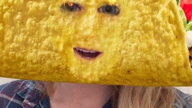 塔可钟(Taco Bell)赞助Snapchat透镜,人人都变煎饼头