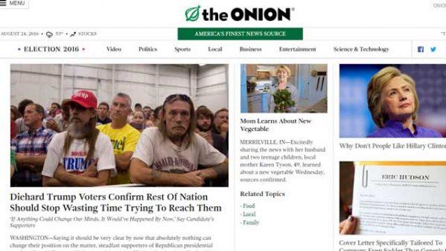洋葱报(The Onion)洋葱新闻网站
