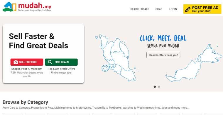 马来西亚Mudah在线市集网站