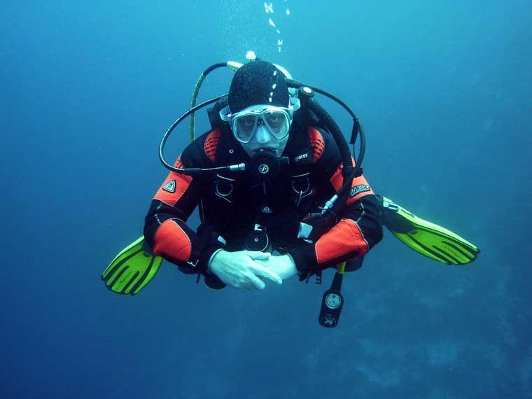 潜水者与呼吸