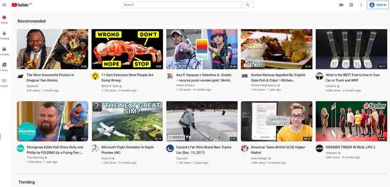 YouTube网站